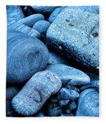 Four Rocks In Blue Fleece Blanket