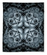 Noir Four Roses Symmetrical Focus Fleece Blanket