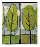 Four Seasons Tree Series Fleece Blanket