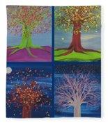 Four Seasons Trees By Jrr Fleece Blanket