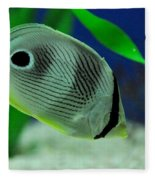 Foureye Butterfly Fish Fleece Blanket
