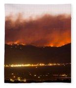 Fourmile Canyon Fire Burning Above North Boulder Fleece Blanket