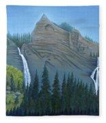 Fourmile Falls And Fall Creek Falls Fleece Blanket