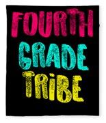 Fourth Grade Tribe Light Fourth Grade 4th Teacher Appreciation Gift Cute Fleece Blanket