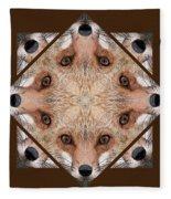 Fox Close Up Fleece Blanket