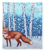 Fox Forest Fleece Blanket