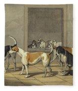 Fox Hounds Fleece Blanket