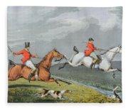 Fox Hunting - Full Cry Fleece Blanket