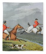 Fox Hunting - Full Cry Fleece Blanket