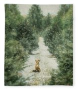Fox In The Flurries Fleece Blanket