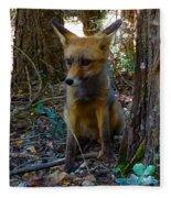 Fox Joy  Fleece Blanket by Colette V Hera Guggenheim