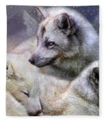 Fox Moods Fleece Blanket