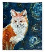 Fox Red  Painting  Fleece Blanket