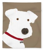 Fox Terrier Fleece Blanket