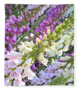 Foxglove Card Fleece Blanket