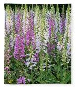 Foxglove Garden - Digital Art Fleece Blanket