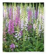 Foxglove Garden - Vertical Fleece Blanket