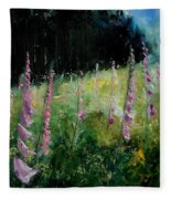 Foxgloves Fleece Blanket