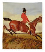 Foxhunting - Clearing A Bank Fleece Blanket