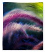 Foxtails In Shadows Fleece Blanket