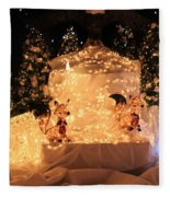 Foxy Christmas Decoration Fleece Blanket