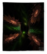 Fractal 009 Fleece Blanket