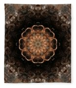Fractal 4 Fleece Blanket