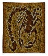 Fractal Abstract Scorpion Fleece Blanket