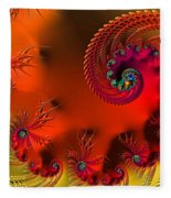 Fractal Art - Breath Of The Dragon Fleece Blanket