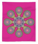Fractal Blossom 1 Fleece Blanket