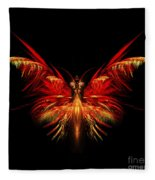 Fractal Butterfly Fleece Blanket