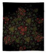 Fractal Christmasbouquet  Fleece Blanket