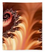 Fractal Desert Fleece Blanket