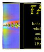 Fractal Faith Hebrews 11 Fleece Blanket