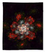 Fractal Floral 02-12-10-a Fleece Blanket