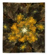 Fractal Floral 02-12-10 Fleece Blanket