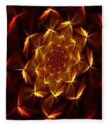 Fractal Floral 062610a Fleece Blanket
