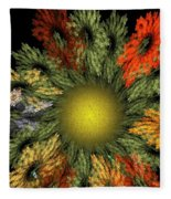 Fractal Floral 12-05-09 Fleece Blanket