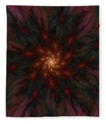 Fractal Floral Fantasy 02-13-10-b Fleece Blanket