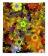 Fractal Floral Study 10-27-09 Fleece Blanket