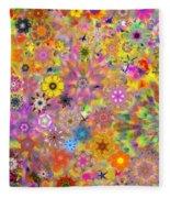 Fractal Floral Study 3 Fleece Blanket