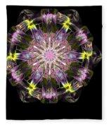 Fractal Flowers 10-20-09 Fleece Blanket