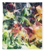 Fractal Flowers Fleece Blanket