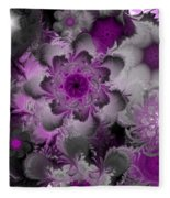 Fractal Garden 4 Fleece Blanket
