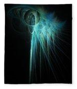 Fractal Rays Fleece Blanket