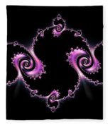 Fractal Spiral Fleece Blanket