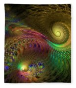 Fractal Swirls Fleece Blanket