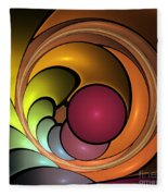 Fractal With Orange, Yellow And Red Fleece Blanket