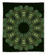 Fractal Wreath-32 Spring Green T-shirt Fleece Blanket