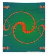 Fractal Yin And Yang Fleece Blanket